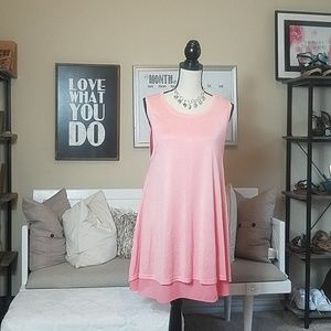 Umgee Sleeveless Dress Pink Lemonade  (S)